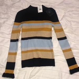 Striped women's long sleeve sweater